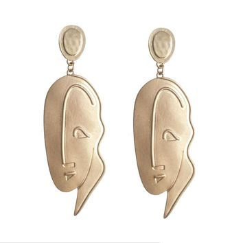 Painters Abstract Face Earrings