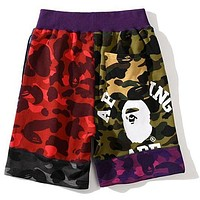 BAPE camouflage multilayer stitching shorts-1