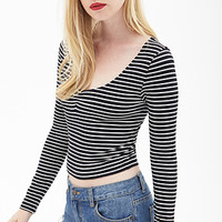 FOREVER 21 Candy Stripe Knit Top