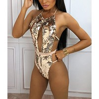 Gold Rush Sequin Swimsuit
