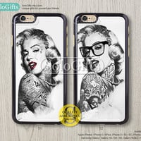 Tattooed Marilyn Monroe, iPhone 6 case, iPhone 6 Plus case, iPhone case, iPhone 5 case, iPhone 5S Case, Galaxy S5 S4 S3 Note 2 Note 3, A0429