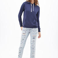 FOREVER 21 French Terry Pullover Hoodie