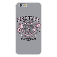 Apple iPhone 6 Custom Case White Plastic Snap On - 'Fire Type' Anime TV Show Parody