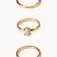 Dainty Jade Knuckle Ring Set