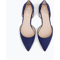 Zara D'orsay Shoes With Metal Detail