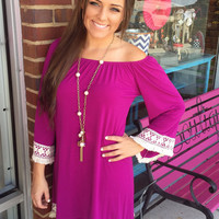 Just the Girl for You Dress - Purple