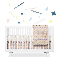 Infant babyletto 'Desert' Crib Sheet, Crib Skirt, Changing Pad Cover, Blanket & Wall Decals - Ivory