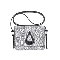 KENZO GRAPHIC CURTAIN SMALL CROSS BODY BAG - WOMEN - JUST IN - KENZO - OPENING CEREMONY
