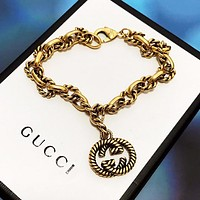 GUCCI Stylish Couple Personality Hand Catenary Bracelet Accessories Jewelry