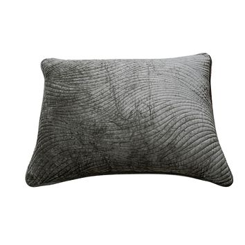 Tache Velvet Dreams Dark Brown Plush Waves Pillow Sham (JHW-852BR)