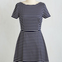 Americana Short Length Short Sleeves A-line Room and Aboard Dress