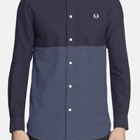 Men's Fred Perry Extra Trim Fit Colorblock Oxford Sport Shirt