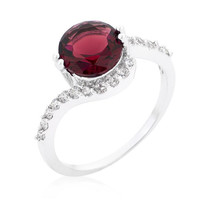 Red Swirling Engagement Ring, size : 09