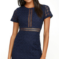 Luxe is More Navy Blue Lace Dress