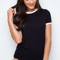 Carina Basic Top - Black