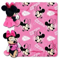 Kansas City Chiefs NFL Minnie Mouse with Throw Combo