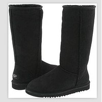 UGG Women Fashion Wool Snow Boots simple high boots Grey