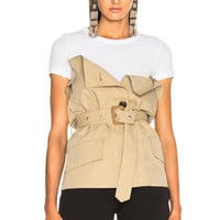 Maison Margiela Tie Waist Corset Top in Neutral | FWRD