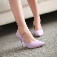 Pointed Toe Women Pumps High Heels Spike Shoes 1058