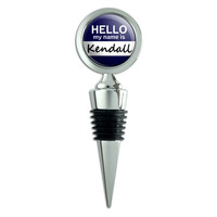 Kendall Hello My Name Is Wine Bottle Stopper