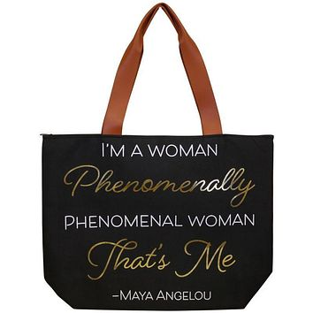 Maya Angelou Phenomenal Canvas Bag