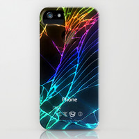 Broken, rupture, damaged, cracked out black apple iPhone 4 5 5s 5c, ipad, pillow case and tshirt iPhone & iPod Case by Three Second