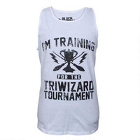 Harry Potter Triwizard Adult White Tank Top