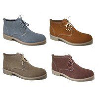 New Mens Ankle Boots Leather Lined Rubber Sole Chukka Lace Up Dressy By Ferro Aldo