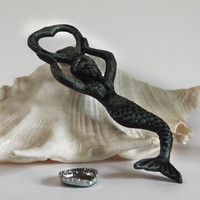 Mermaid Bottle Opener Green Finish