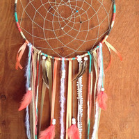 "Positive Vibes-Large 14"" Custom Handmade Dream Catcher"