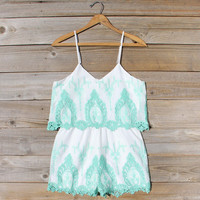 Palm Springs Romper in Mint