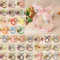 HOT Retro Vintage Style Wired Bendy Headband Scarf Hair Head Band Wrap 34 Colors