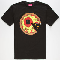 Mishka Pizza Keep Watch Mens T-Shirt Black  In Sizes