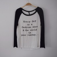 Fashion Quote Longsleeve Top from ootdfash