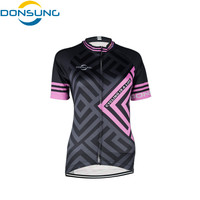 DONSUNG Breathable Cycling Jersey Women Summer Mtb Cycling Clothing Bicycle Bike Jersey Short Ropa Ciclismo Maillot Bike Clothes