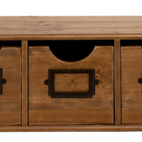 Benzara Studry Constructed Wood Table File Cabinet