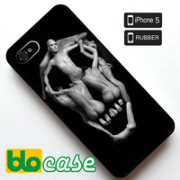 Women Forming Skull Iphone 5 Rubber Case