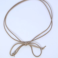Taupe Suede Choker [Square]