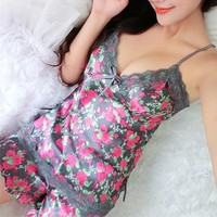 Silk Lace Floral Braded Robe