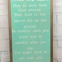 Words Are Seeds Inspirational Wall Art