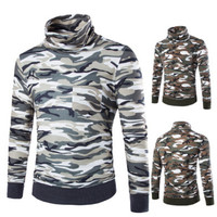 Camouflage Ribbed Trim Sweatshirt