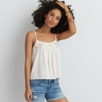 AEO EMBROIDERED SWING CAMI