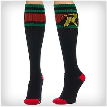 Robin Athletic Stripe Knee High Socks - Spencer's