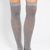 Speckled Cableknit Over-The-Knee Sock - Urban Outfitters
