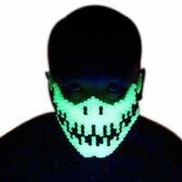 Glow In The Dark Skeleton Kandi Masks