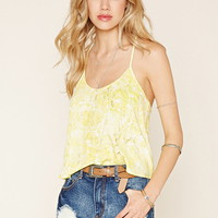 Abstract Print Strappy Cami