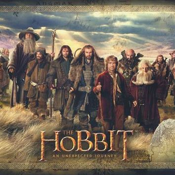 The Hobbit Bilbo and the Dwarves Movie Poster 22x34