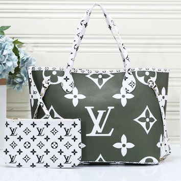 LV Louis Vuitton Fashion casual wild large-capacity printing shoulder bag handbag shopping bag