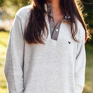 Pawleys Rope Pullover in Light Gray by Southern Marsh