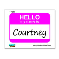 Courtney Hello My Name Is Sticker